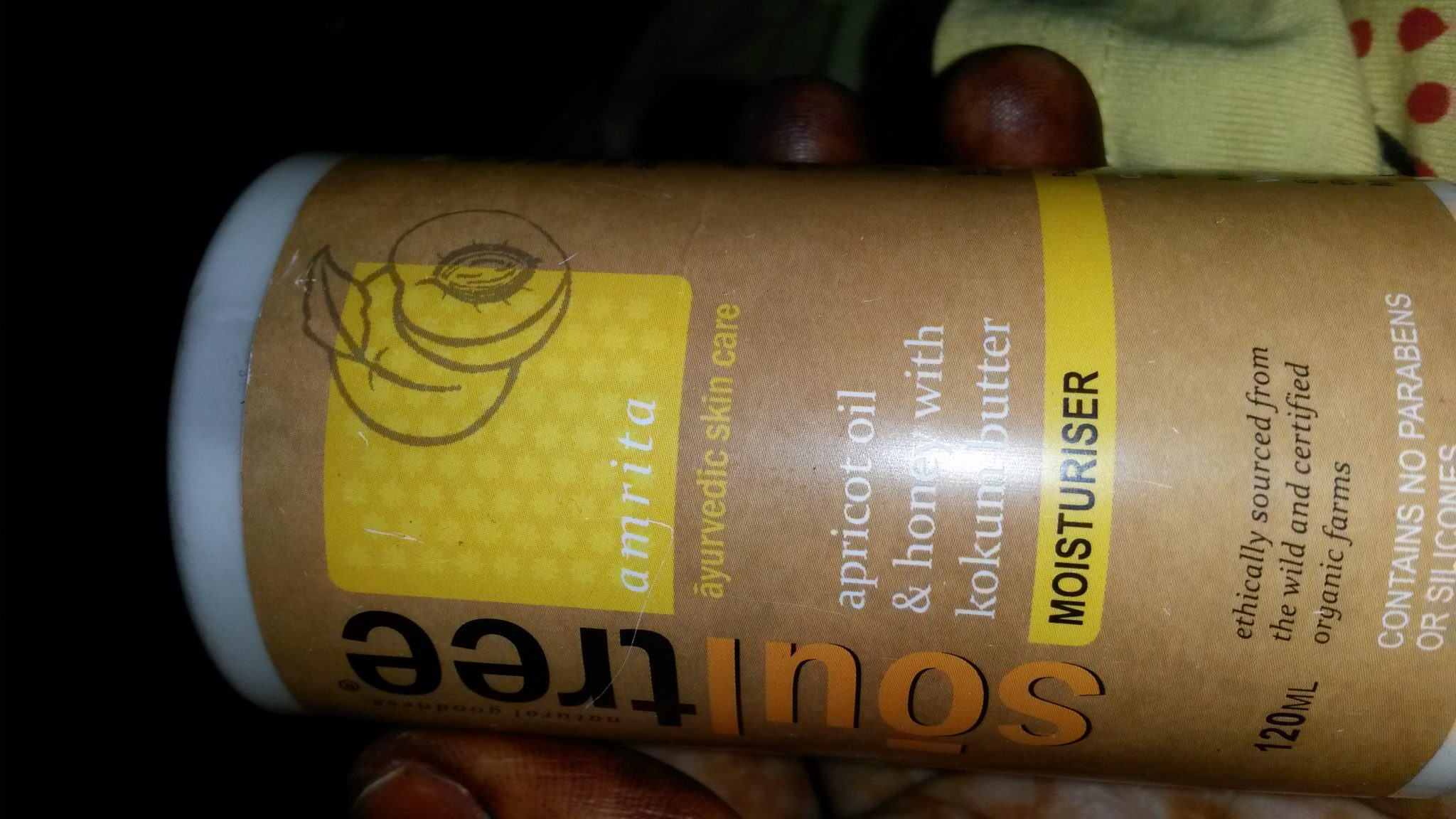 apricot oil and honey with kokum butter (moisturiser)