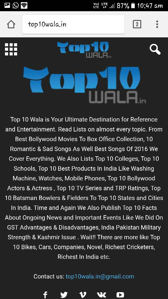 Top10Wala Best for Top 10 of everything