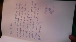 Handwritten notes Savoirt Faire