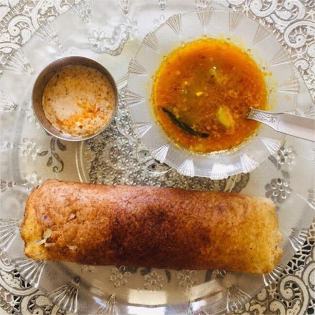 Masala Dosa recipe on Indian tawa without a non stick pan